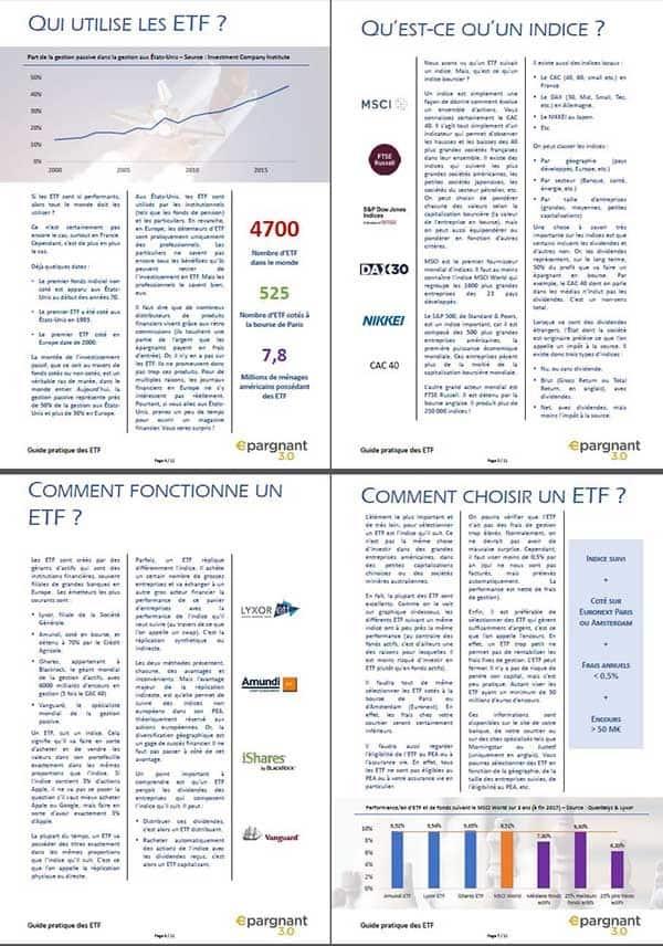 Fiches du Guide Pratique des ETF