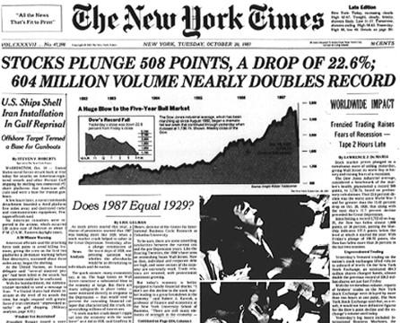 Le krach du Dow Jones de 198