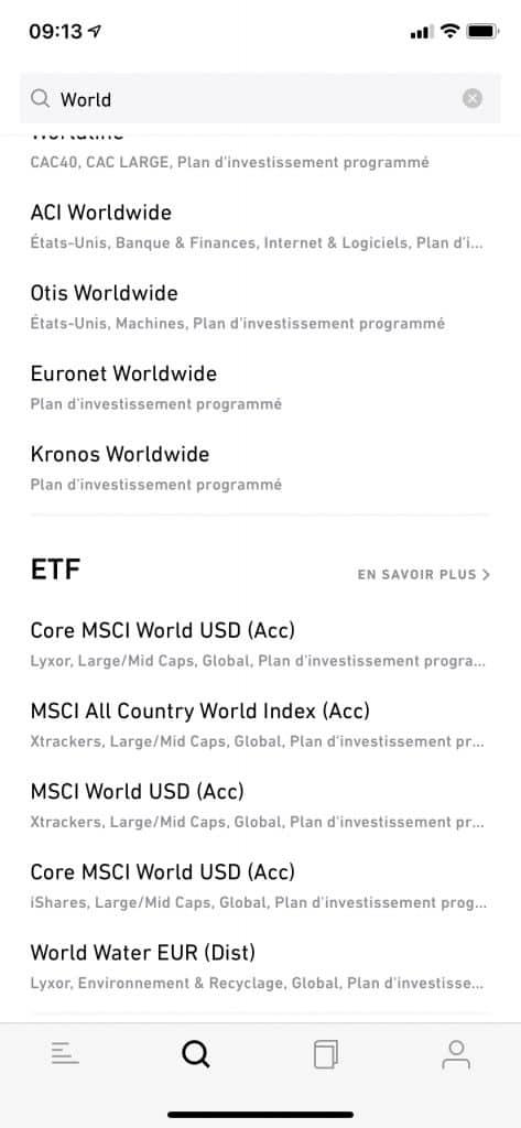 Trade républic : recherche d'un ETF - à mon avis, très efficace